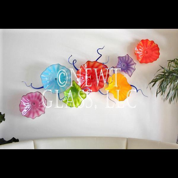 Blown Glass Wall Decor : Floral wall art decor ideas
