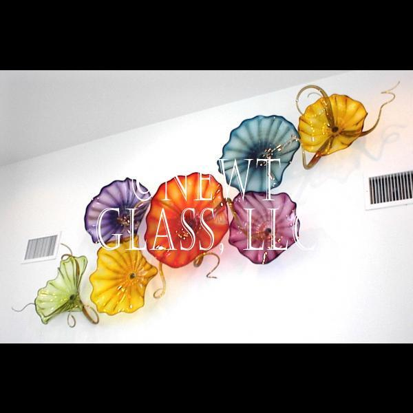 Wall Decor Glass Plates : Gem colors of blown glass wall plates gallery
