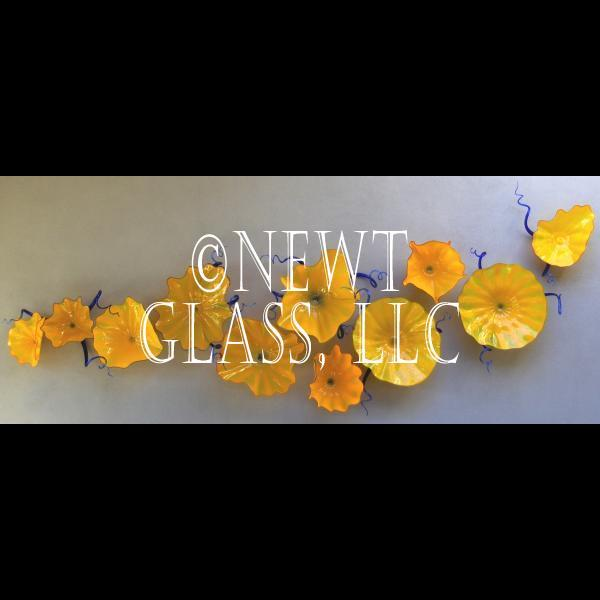 Decorative Glass Wall Art Plates Colorful Blown Glass Plates Wall Flowers