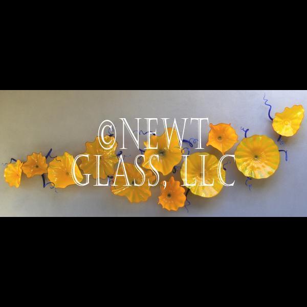 blown glass wall art made to order blown glass wall art. Black Bedroom Furniture Sets. Home Design Ideas