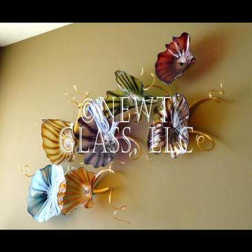 Desert Colors glass wall plates