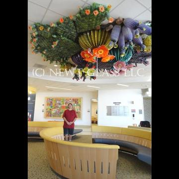 Glass Cactus Garden for Childrens Hospital El Paso, Texas