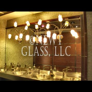 Glass lighting Mastro's ladies room