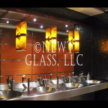 Glass lights-Mastro's mens room