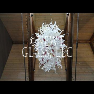 Custom blown glass chandelier for home