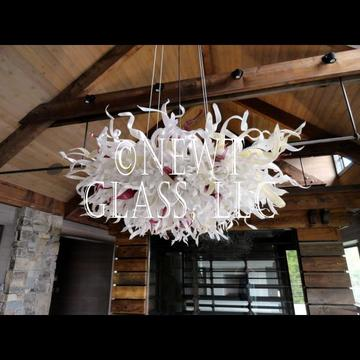 Montana Lodge chandelier of blown glass